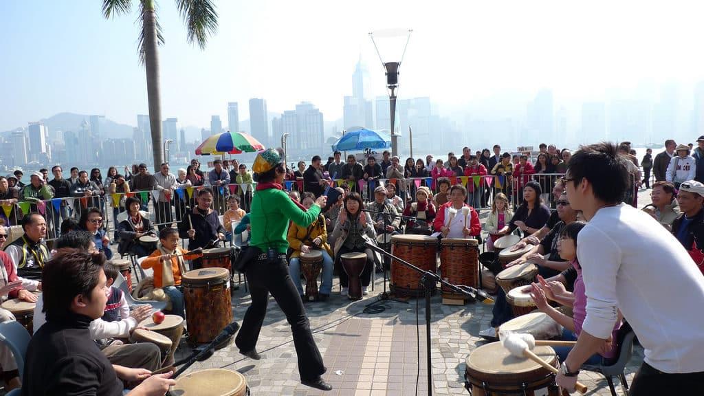 drumcircle happening - drumhappening - moderne percussieworkshop