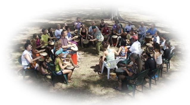 Interactieve Ritme Cirkel,  Drumcircle-Workshop, Drumcircle-Happening