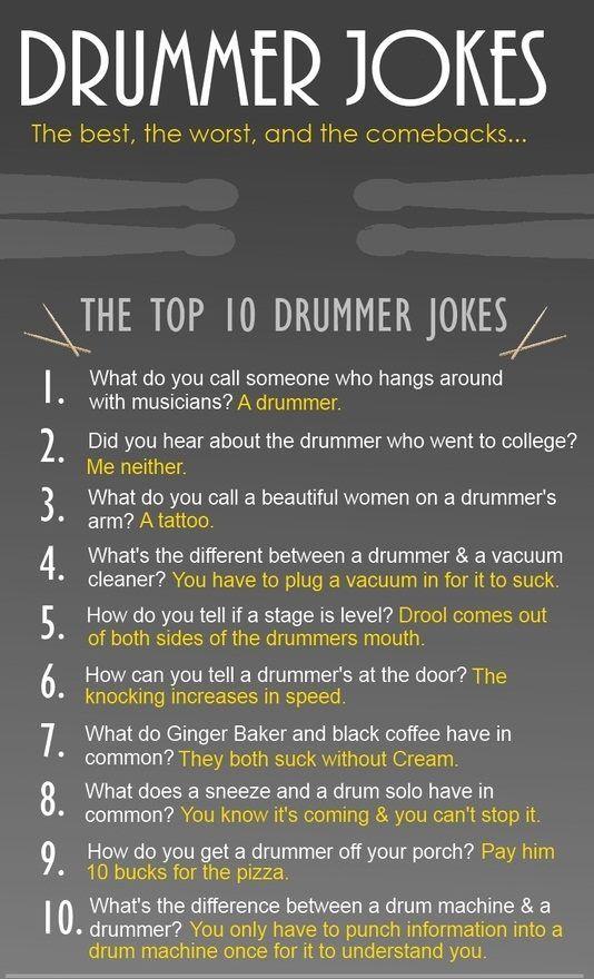 drummer moppen / drummers jokes