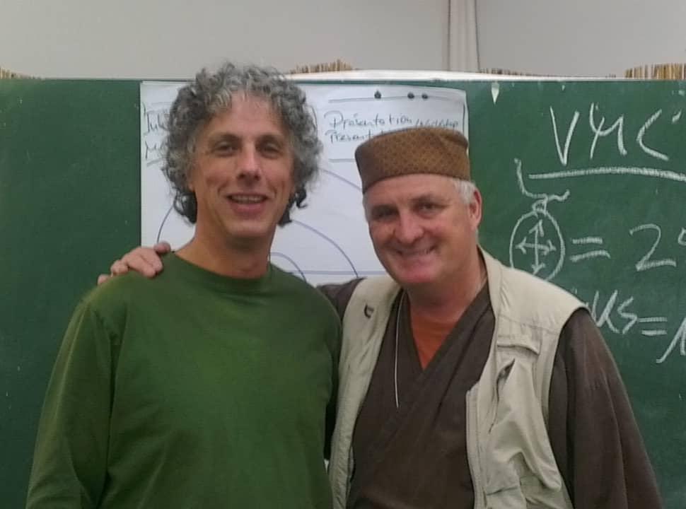 drumcircle facilitators Arthur Hull en Hans Beenhakkers in Kassel