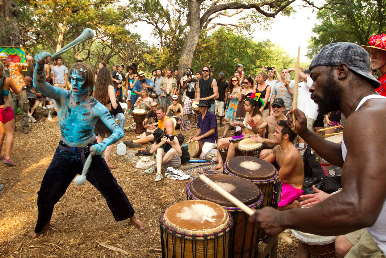freeform hippie thunder drumcircle