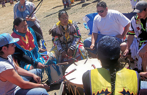 shamanic drum circle sjamanistische  indianen