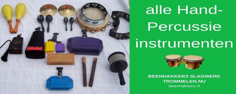 Alle handpercussie instrumenten, een overzicht
