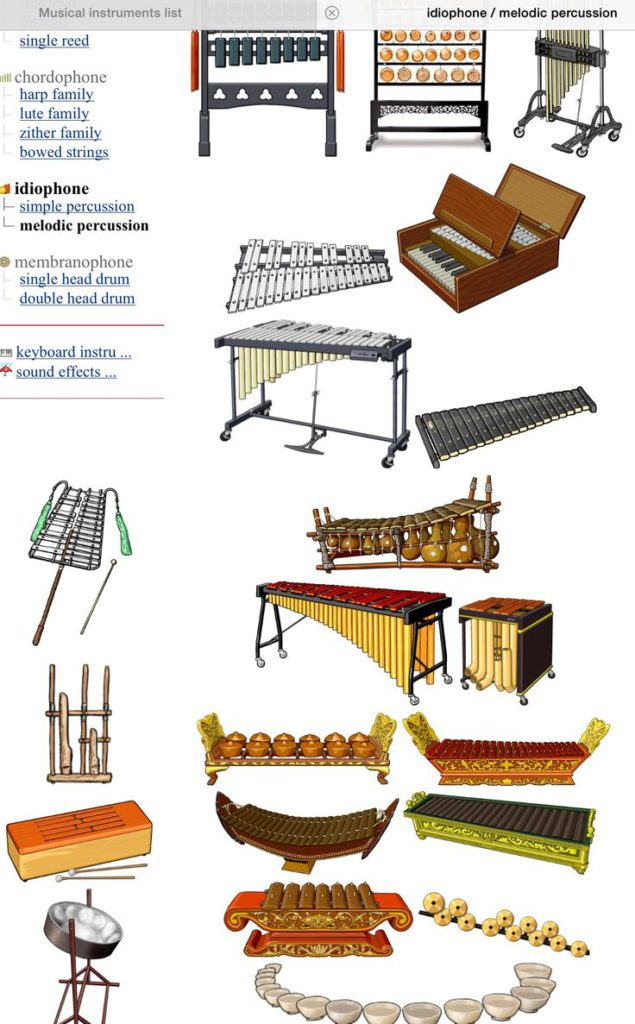 melodische percussie instrumenten - melodic percussion instruments