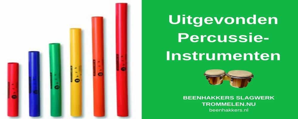 uitgevonde percussie instrumenten