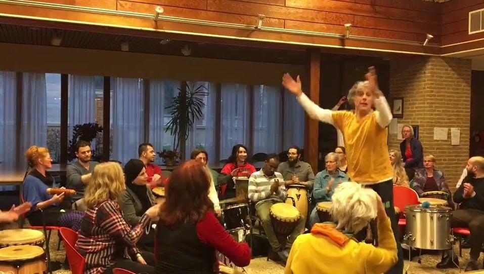 openbare drum-happenings / drumcircle-workshops