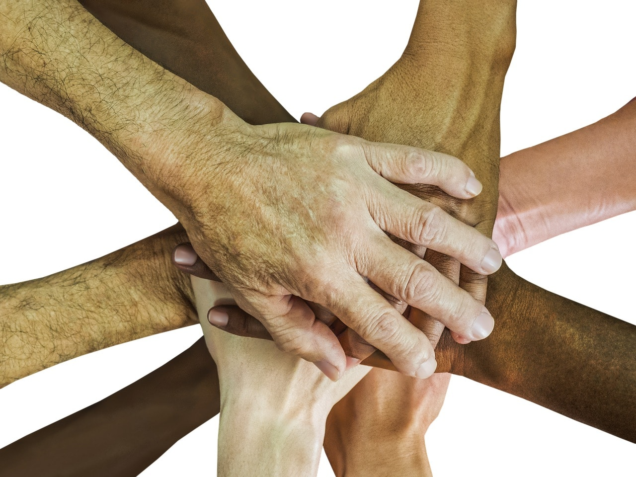 teambuilding - teamwork - hands