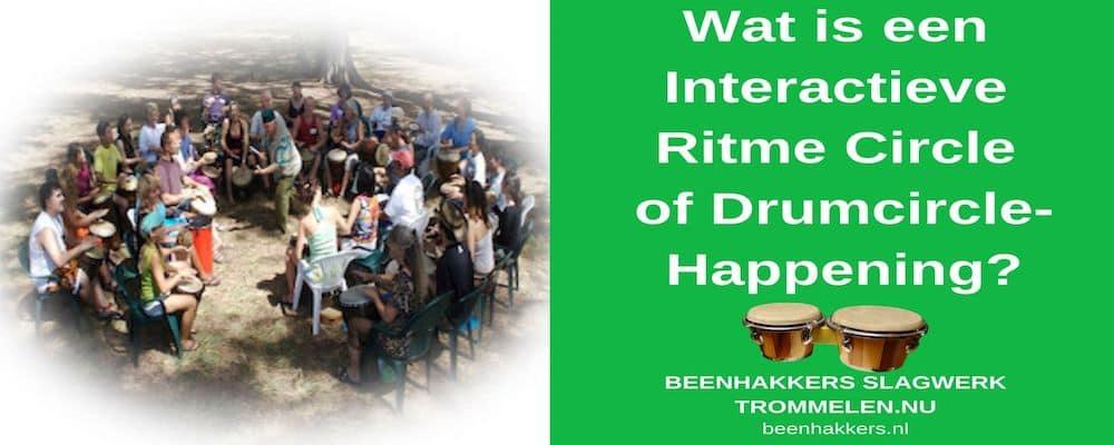 Wat is een Interactieve ritme cirkel of een drumcircle-happening