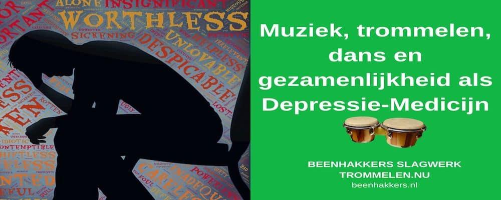 trommelen, muziek en dans als depressie medicijn