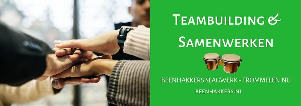 teambuilding, samenwerken, beenhakkers slagwerk, trommelen.nu