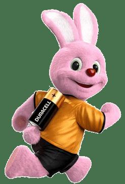 rennend duracell konijntje