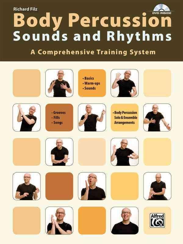 Voorkant van het boek over body percussie: body percussion sounds and rhythms